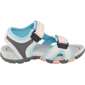 Hi-Tec GT Strap Sandals Kids Cool Grey/Curacou Blue/ Papaya Punch